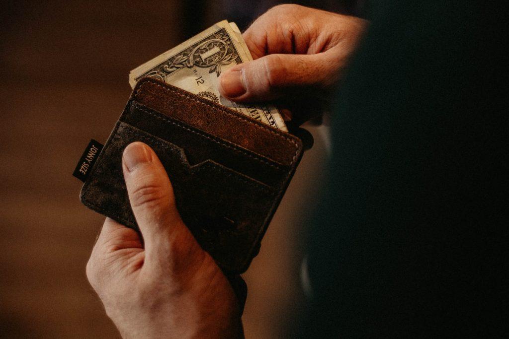 dollar in a wallet