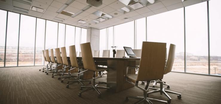 empty corporate boardroom